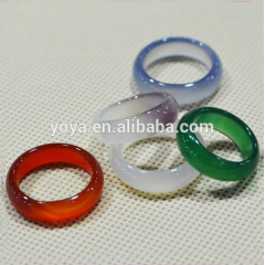 RG1035 Natural Agate Ring,Gemstone Ring,Fashion Stone Band Ring