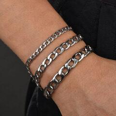 BS4001 Gold Silver Stainless Steel Chain Mens Bracelets,Bracelet Homme,18cm Link Bracelet