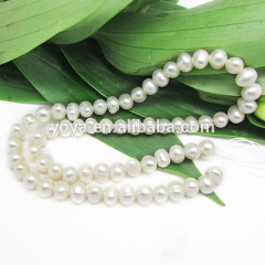 FWP0002 wholesale SI A grade potato oval 6-7mm natural freshwater pearl