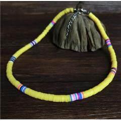 NC1084 Bohemia Colorful Polymer Clay Disc Heishi Beads Choker Necklace for Women Girls