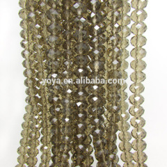 CR5012 Grey Crystal Faceted roundel Beads,Smoky Faceted Crystal Glass Abacus Beads