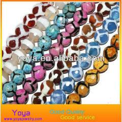 AB0129 Wholesale Faceted Tibetan Dzi Beads ,Tibetan Agate Dzi Beads
