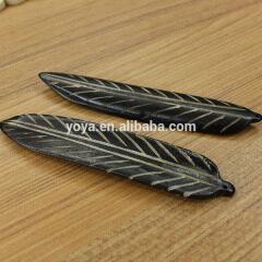 OB013 Wholesale Hand Carved feather Bone beads,wing charm Boho pendant