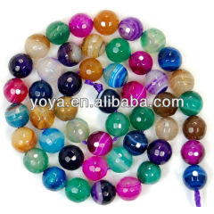 AB0027 Wholesale Multicolor gemstone roundel agate beads, colorful faceted round abacus agate stone jewelry