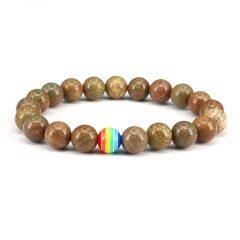 8mm green jade jewelry bracelet