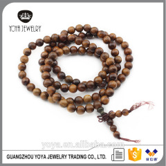 PBB1020 Natural Rosewood Prayer Meditation Beads Bracelet Necklace,108pcs Sandalwood necklace