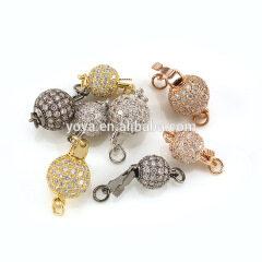 CZ6639 Hot sale cz micro pave diamond ball magnetic clasp