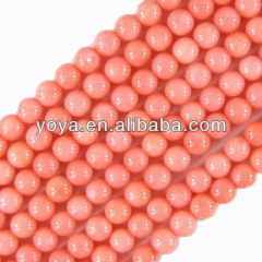 CB8012 Natural pink coral beads,pink round coral beads