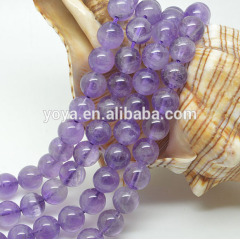 CR5062 Natural Light Purple Amethyst Round Beads