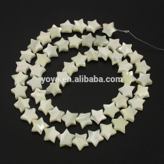 SP4043 White Mother of pearl star beads,shell star shaped beads