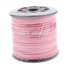 ST1017 Pink Matte Leather Cord,Lace Leather Cord Flat Suede Cord,Necklace Thread Cord