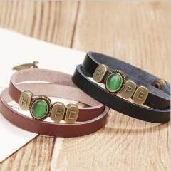 BL1001 Bracelets for Women Inspirational Gift for Her Bangle with Motivational Words,Religious Christian Wrap Leather Bracelet