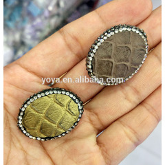 PC1637 Hot Sale Crystal Pave Snake Skin snakeskin Wrapped Beads
