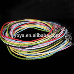 BC0303 Fashion braided leather cord necklace chain