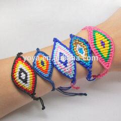 FL0948 Fashion macrame evil eye Bracelet,DIY woven evil eye bracelet,Protector Bracelet
