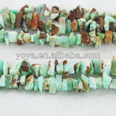 AB0336 Natural rough chrysoprase chips nugget beads