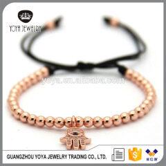 BRZ1383 Newest Hamsa hand bracelet,cz pave macrame bracelet for gift