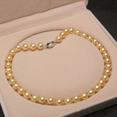 8mm 6mm 18 inches  knotted hawaiian shell pearl necklace