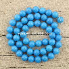 MJ1020 Beautiful smooth dyed gemstone beads,Mashan jade round loose beads