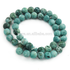 MJ3190 Wholesale Matte Green and Black Jade Stone Beads