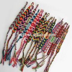 FL0818 Wholesale handmade friendship bracelet, woven cotton friendship bracelet
