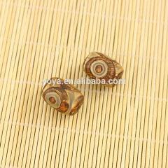 AB0172 Natural brown tibetan agate eye dzi drum beads,DIY jewelry drum beads