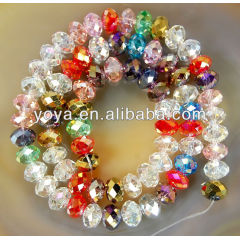 CR5012 Faceted Crystal Beads,Crystal Rondelle Beads,crystal beads wholesale