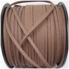 ST1016 Brown Lace Leather Cord Flat Leather Cord Suede Cord