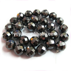 HB3001 6mm 8mm 10mm 12mm Natural Faceted Hematite Beads