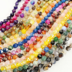 AB0686 Multicolor diamond cut faceted agate nugget beads,faceted gemstone nugget beads