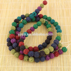 LB1003 Wholesale multicolor lava round beads,natural lava rock stone beads