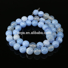 AB0697 Light Blue Striped Agate Beads,Blue Lace Agate Beads