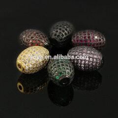 CZ7256 CZ Micro Pave Drum Oval Beads,Pave Diamond Drum Rice Beads