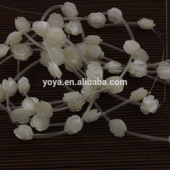 SP4037 MOP shell mother of pearl carved rose flower beads