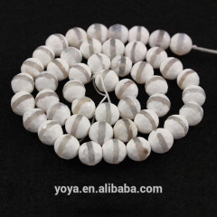 AB0236 Faceted white and grey striped tibetan agate beads,tibet agate dzi beads