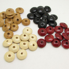 SB0693 100pcs/bag colourful wood flying saucer beads,multicolor wooden UFO Rondelle Spacer beads