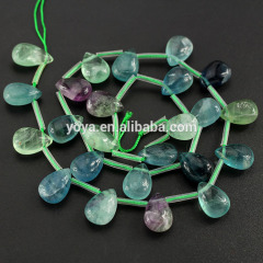 SB0906 Wholesale Top Drilled Fluorite Drop Teardrop Beads