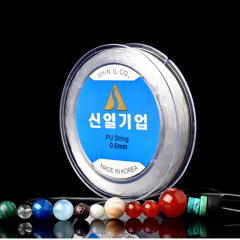 ST1034 transparent round strong crystal TPU elastic cord from jewelry making 0.4mm 0.5mm 0.6mm 0.7mm 0.8mm 1.0mm