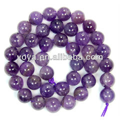 CR5040 Wholesale natural gemstone amethyst beads,Purple round beads