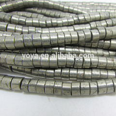PB1091 high quality natural pyrite heishi disc spacer beads
