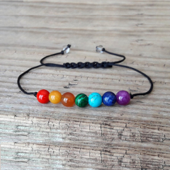 BN5192 new design 7 chakra stone beads bracelet,handmade braided bracelet