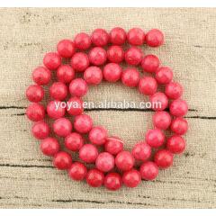 MJ1012 Fashion smooth natural gemstone , salmon Mashan jade round loose beads