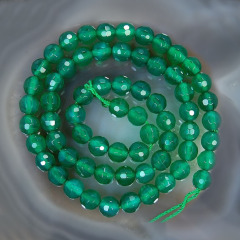 AB0016 16 inch 4mm 6mm 8mm 10mm 12mm loose beads natural green faceted round agate beads