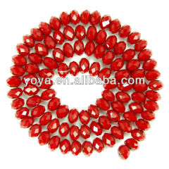 CR5004 Faceted rondelle glass beads,cheap glass beads