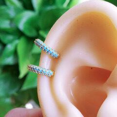 EC1662 high quality cuff women  brass with CZ clips copper diamond earrings clips on earring
