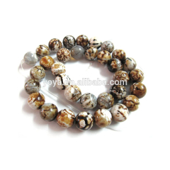 AB0008 Tiger Skin Agate Beads,brown leopard skin agate beads