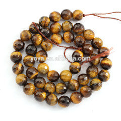 TE3002 Natural faceted yellow tiger's eye stone beads