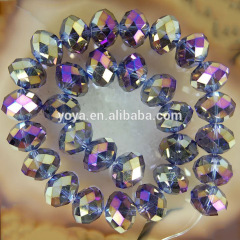 CR5007 multicolor faceted rondelle glass beads