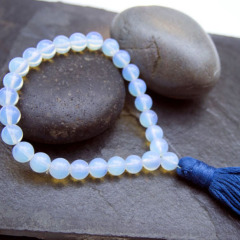 PBB013 Blue opal beads japan prayer beads