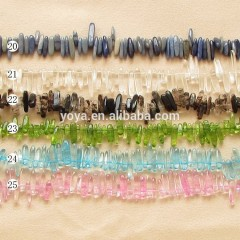 SB6442 Wholesale natural gemstone long chip beads, gemstone chips wholesale
